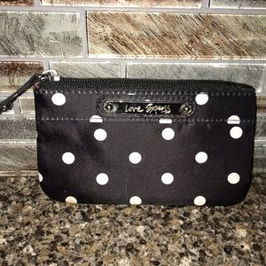Black &White Polkadot change purse